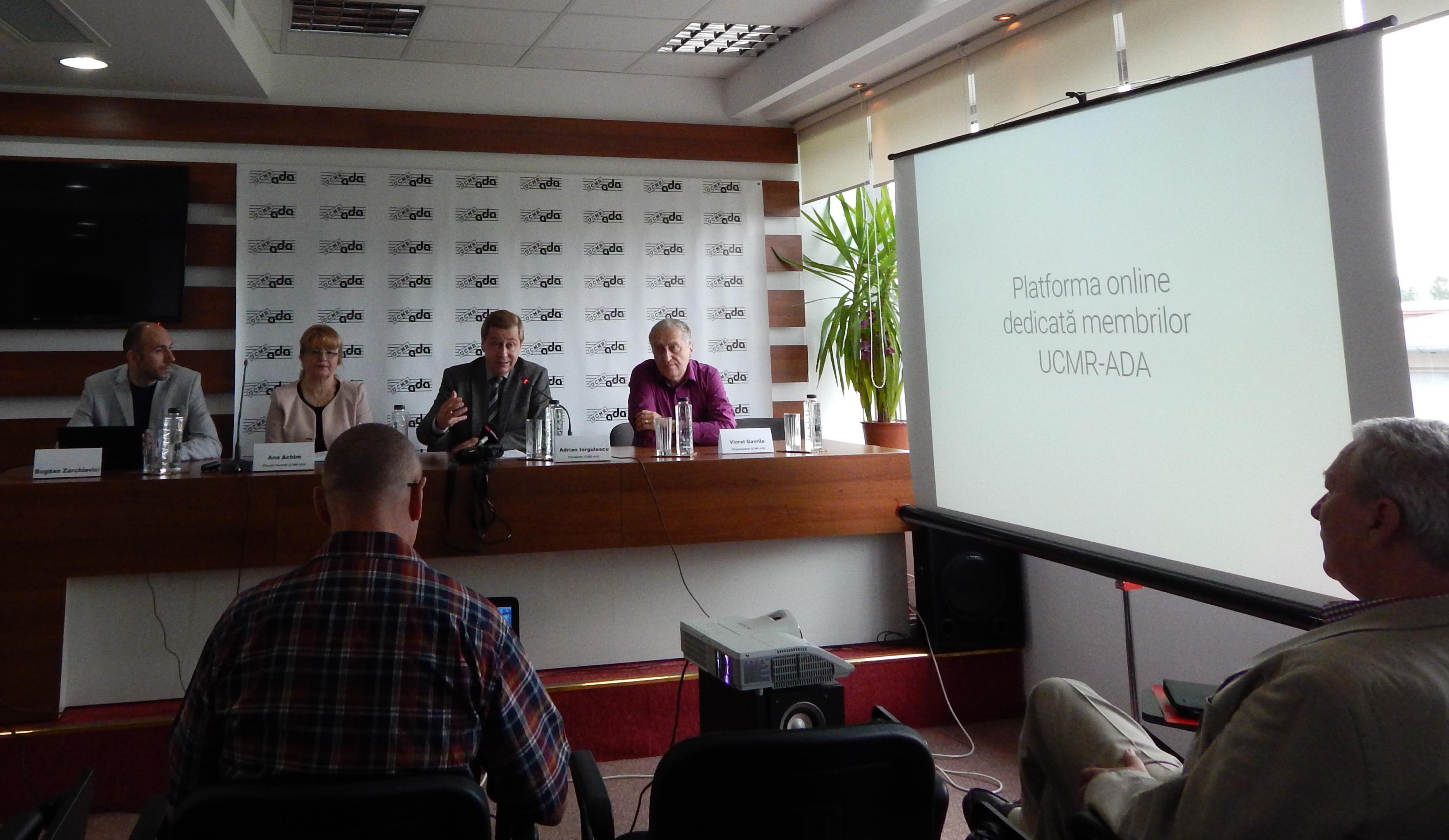 Conferinta UCMR-ADA - Lansare platforma online pentru membrii 2